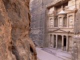 The Treasury (El Khazneh), Petra, Unesco World Heritage Site, Jordan, Middle East