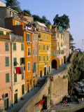 Village of Riomaggiore, Cinque Terre, Unesco World Heritage Site, Liguria, Italy