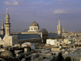 City Skyline Including Omayyad Mosque and Souk, Unesco World Heritage Site, Damascus, Syria