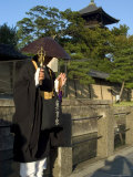 Monk at Toji Temple, Kyoto City, Honshu, Japan