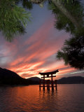 Torii Shrine Gate in the Sea, Miyajima Island, Honshu, Japan