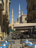 Street Cafe, New Mosque, Beirut, Lebanon, Middle East