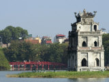 Perfume Pagoda, the Hup Bridge, Hoan Kiem Lake, Hanoi, Northern Vietnam, Southeast Asia