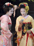 Geisha, Maiko (Trainee Geisha) in Gion, Kyoto City, Honshu, Japan
