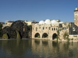 Mosque and Water Wheels on the Orontes River, Hama, Syria, Middle East