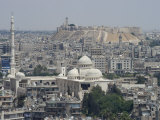 City Mosque and the Citadel, Aleppo (Haleb), Syria, Middle East