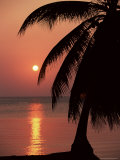 Buy Sunset Seen from the Resort of West End on Roatan, Largest of the Bay Islands, Honduras, Caribbean at AllPosters.com