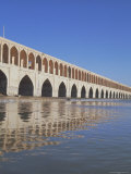 Allahverdi Khan Bridge River, Isfahan, Middle East