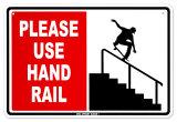 Please use hand rail