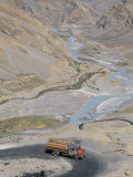 Truck Climbing Lachalang Pass, out of Valley of Zanskar River, Ladakh, India