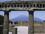 Buy Versuvius Volcano Seen from Pompeii at AllPosters.com