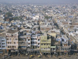 Centre of Old Delhi, Seen from Minaret of Jamia Mosque, Delhi, India