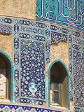 Detail of Turquoise Glazed Tiles on Late Timurid Style Shrine of Khwaja Abu Nasr Parsa