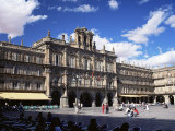 The Town Hall in the Plaza Mayor, Salamanca, Castilla Y Leon, Spain