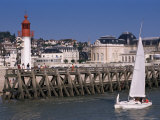 Lighthouse and Jetty, Trouville, Basse Normandie (Normandy), France
