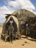 Ari Women Standing Outside House, Lower Omo Valley, Ethiopia, Africa