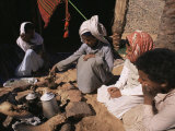 Brewing Coffee Outside a Bedouin Tent, Sinai, Egypt, North Africa, Africa