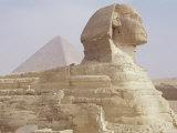 The Sphinx and Chephren Pyramid Beyond, Giza, Unesco World Heritage Site, Near Cairo, Egypt