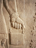 Close up of Carved Relief, Nimrud, Iraq, Middle East