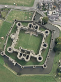 Aerial View of Beaumaris Castle, Unesco World Heritage Site, Gwynedd, Wales, United Kingdom