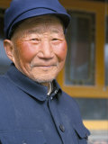 Portrait of a Han Farmer, Near Xining, Qinghai, China Photographic Print