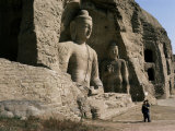 Yungang Buddhist Caves, Unesco World Heritage Site, Datong, Shanxi, China Photographic Print