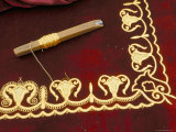 Close-Up of Gold Work Embroidery, Bokhara, Uzbekistan, Central Asia Photographic Print
