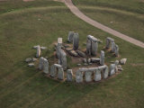 Aerial View of Stonehenge, Unesco World Heritage Site, Salisbury Plain, Wiltshire, England