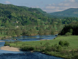 The River Tay Three Miles North of Dunkeld, Tayside, Scotland, United Kingdom