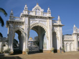 The Gate to the Palace at Mysore, Karnataka, India