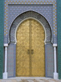 Ornate Doorway, the Royal Palace, Fez, Morocco, North Africa, Africa