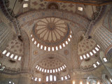 Interior of the Blue Mosque (Sultan Ahmet Mosque), Istanbul, Turkey