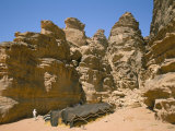 Bedouin Tent and Rocks of the Desert, Wadi Rum, Jordan, Middle East