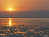 Sunset on the Dead Sea, Jordan, Middle East