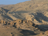 View Over Nabatean Tombs, Petra, Unesco World Heritage Site, Jordan, Middle East