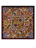 A Crazy Quilt Pattern Coverlet, 1880-1890