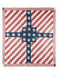 American Civil War Coverlet, Pieced and Quilted Calico, 1860