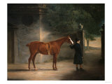 A Hunter and Groom in a Courtyard, 1816 Giclee Print