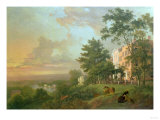 A View from the Terrace, Richmond Hill Giclee Print