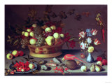 A Basket of Grapes and Other Fruit Giclee Print