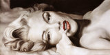 Reclined Marilyn Art Print