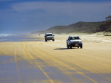 Four-Wheel Drive Vehicles on Seventy Five Mile Beach, Queensland, Australia