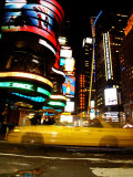 Traffic, Times Square, New York City, New York Photographic Print