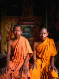 Two Novice Monks from Phnom Penh, Cambodia