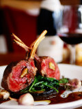Rack of Lamb at European Restaurant in Spring Street, Melbourne, Victoria, Australia