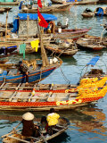 Trading on Boats in Halong Bay, Dao Cat Ba, Hai Phong, Vietnam
