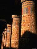 Columns at Ramses III Second Court, Medinat Habu, Thebes, Luxor, Egypt