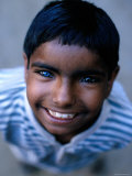 Boy with One Blue and One Brown Eye, Nawalgarh, Rajasthan, India