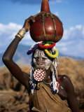 Mursi Woman with Lip-Plate, Mago National Park, South Omo, Ethiopia