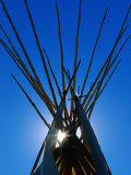 Sun Shining through Top of Teepee